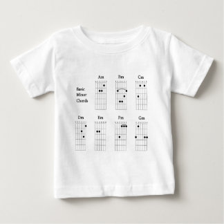 Basic Minor Chords Baby T-Shirt