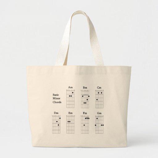 Basic Minor Chords Canvas Bag
