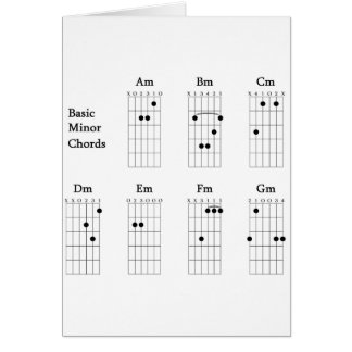 Basic Minor Chords Card