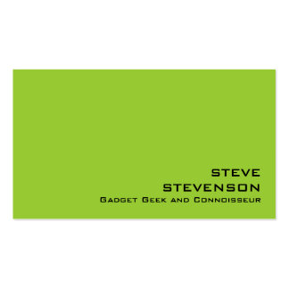 Basic Modern Two-Color Z9 Business Card