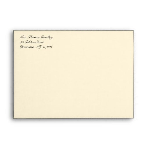 Basic Monogram Party Invitation Envelopes