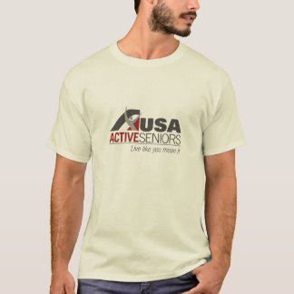 Basic Natural T-shirt with USAAS logo