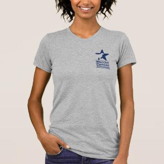 Basic Navy logo and website T-Shirt