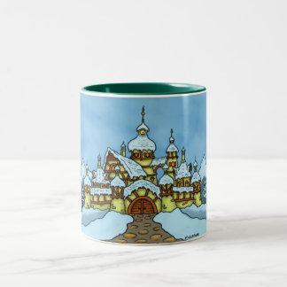 basic northpole holiday  mug two-tone