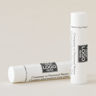 Basic Office Business Logo with 3 lines of Text Lip Balm