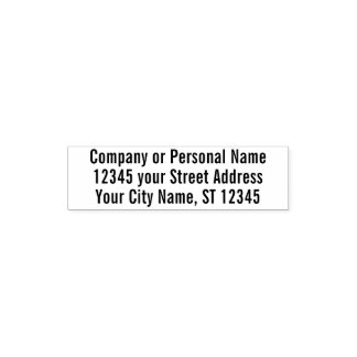Basic Office Business Personal Return Address Self-inking Stamp