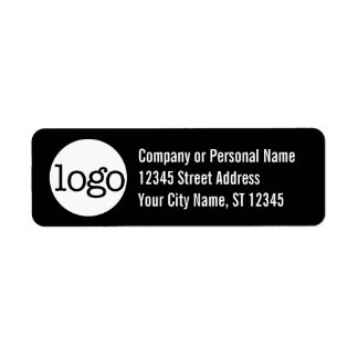 Basic Office or Business Address Label - Black
