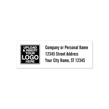 Professional Business Basic Office or Business Address Label Self-inking Stamp