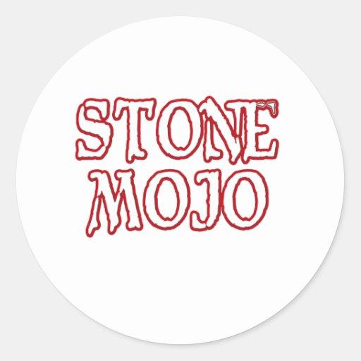 Basic Official Stone Mojo Logo Classic Round Sticker