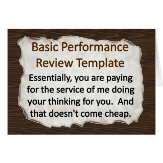 Basic Performance Review Card