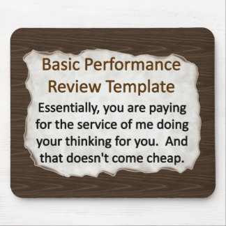 Basic Performance Review mouse Mouse Pad