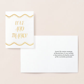 """Basic & Personalized """"LOVE AND THANKS!"""" Card"""
