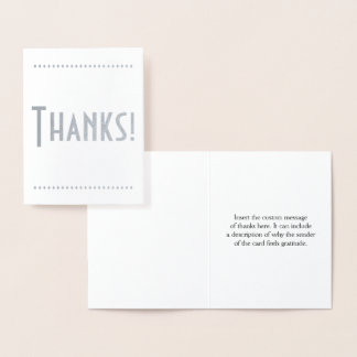 """Basic, Personalized """"Thanks!"""" Card"""