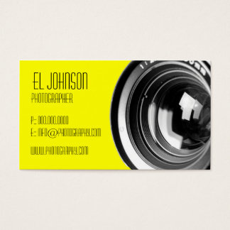 Basic Photography Business Card (Mello Yellow)