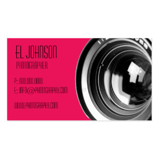 Basic Photography Business Card (Rose Petal)