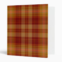 Basic Plaid Avery Binder