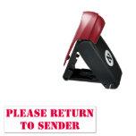 """[ Thumbnail: Basic """"Please Return to Sender"""" Rubber Stamp ]"""