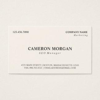 Basic Professional Business Card