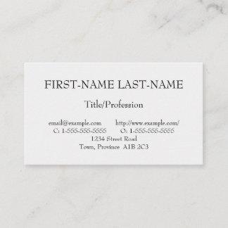 Basic Professional Profile Card