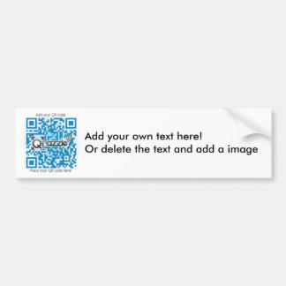 Basic QR code sticker Car Bumper Sticker