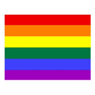 Basic Rainbow Flag Postcard