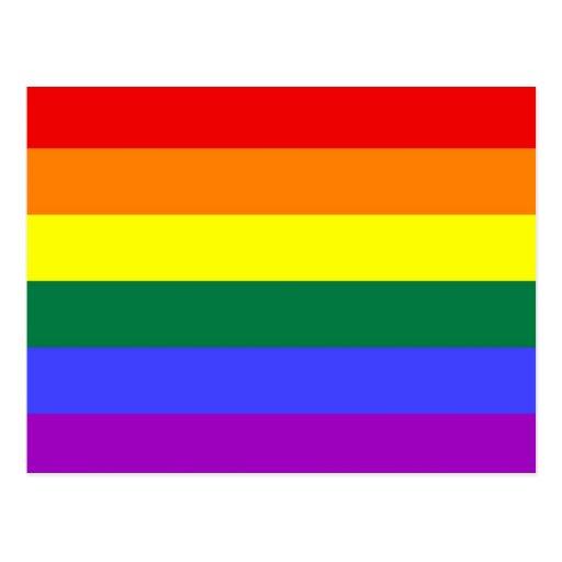 Basic Rainbow Flag Postcard