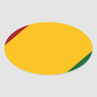 BASIC Rasta by Picona™ Oval Sticker