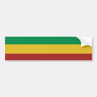 Basic Rasta Stripes Bumper Sticker