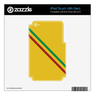 Basic Rasta Stripes Decals For iPod Touch 4G