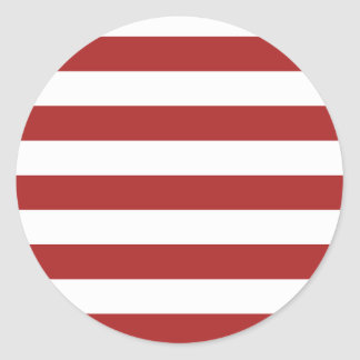 Basic Red and White Stripes Pattern Classic Round Sticker