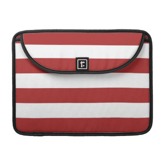 Basic Red and White Stripes Pattern Sleeves For MacBooks