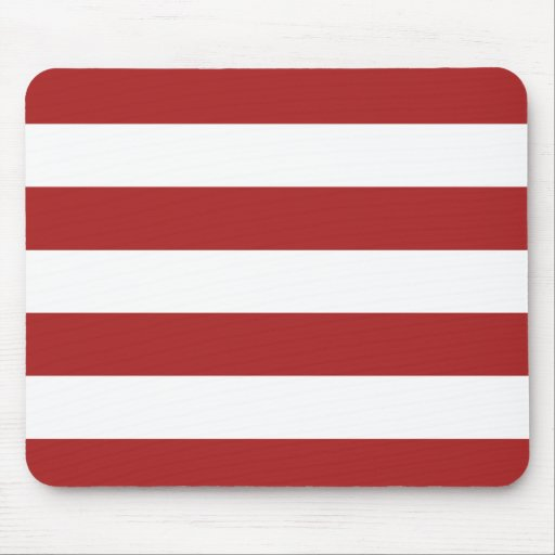 Basic Red and White Stripes Pattern Mouse Pad