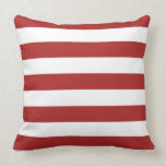 Basic Red and White Stripes Pattern Throw Pillows