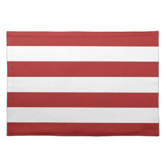 Basic Red and White Stripes Pattern Placemat