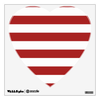 Basic Red and White Stripes Pattern Wall Skin