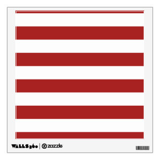 Basic Red and White Stripes Pattern Wall Decor