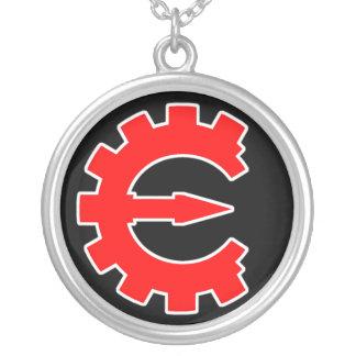 Basic Red Logo Round Pendant Necklace