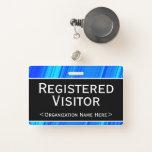 """[ Thumbnail: Basic """"Registered Visitor"""" Badge ]"""