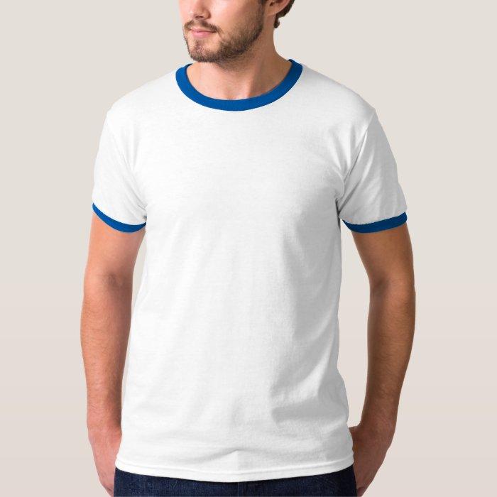 Basic Ringer T-Shirt White/Royal