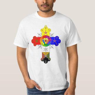 Basic Rose Cross Lamen T-Shirt (White)