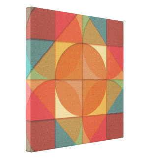 Basic shapes canvas print