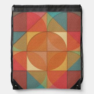 Basic shapes drawstring backpack