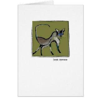 Basic Siamese Greeting Card