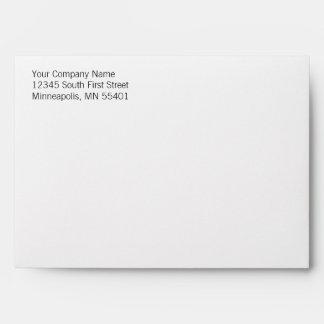 Basic & Simple Custom Return Address A7 Envelopes