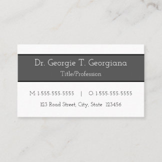 Basic, Simple Professional Business Card