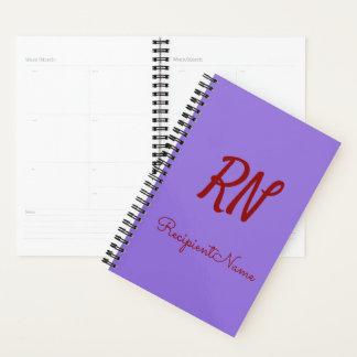 Basic, Simple, Purple Background + Dark Red Name Planner