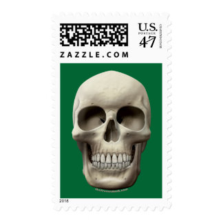 Basic Skull Postage Stamp