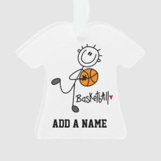 Basic Stick Figure Basketball Player Ornament