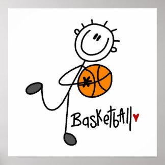 Basic Stick Figure Basketball T-shirts and Gifts Poster
