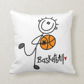 Basic Stick Figure Basketball T-shirts and Gifts Throw Pillow